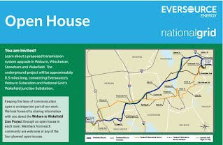Eversource - National Grid Woburn to Wakefield Transmission Line Project Route through Winchester and Stoneham