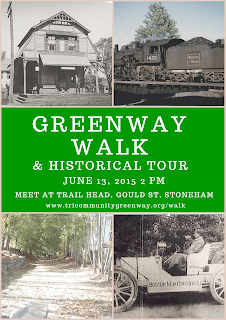 Poster for 2015 Tri-Community Greenway Walk and Tour